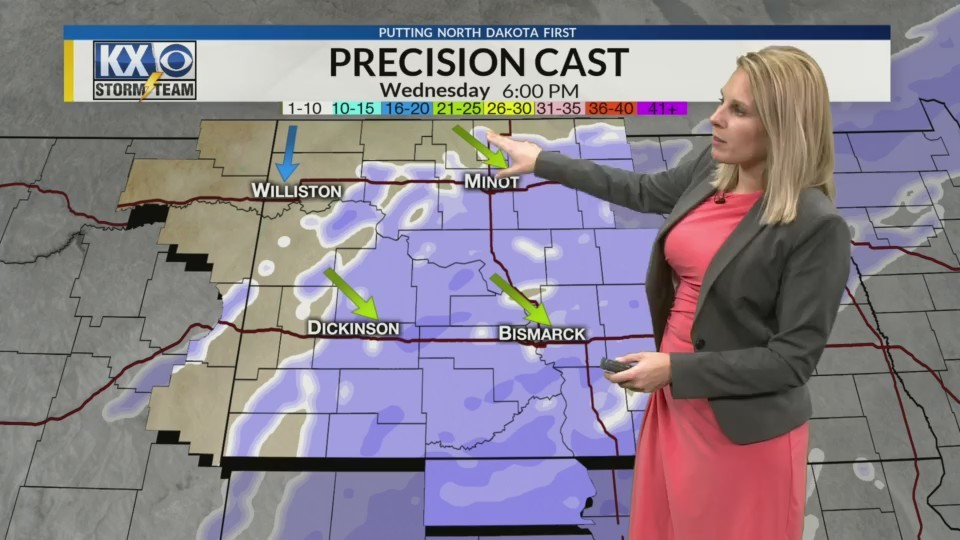 Tuesday Morning One Minute Forecast 1/9