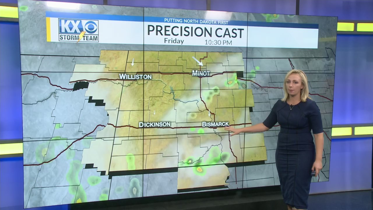 Friday's Afternoon One Minute Forecast 8/3