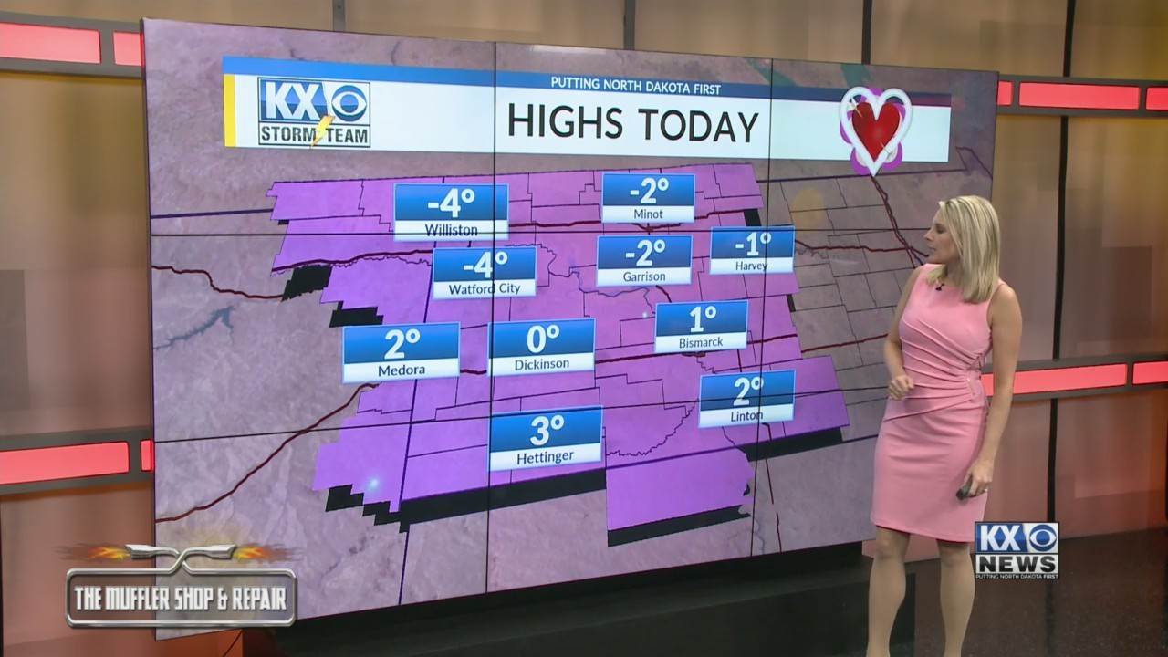 Amber's Thursday Morning One Minute Forecast 2/14