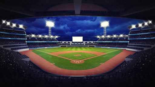baseball stadium under roof view with fans_1553785920543