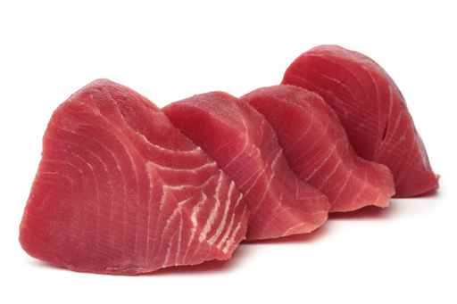 Slices of raw tuna fish meat_1555517469262