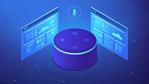 Isometric smart speaker and web pages. Voice activated digital c_1558617579307