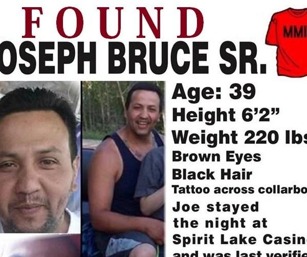 Joe Bruce Found