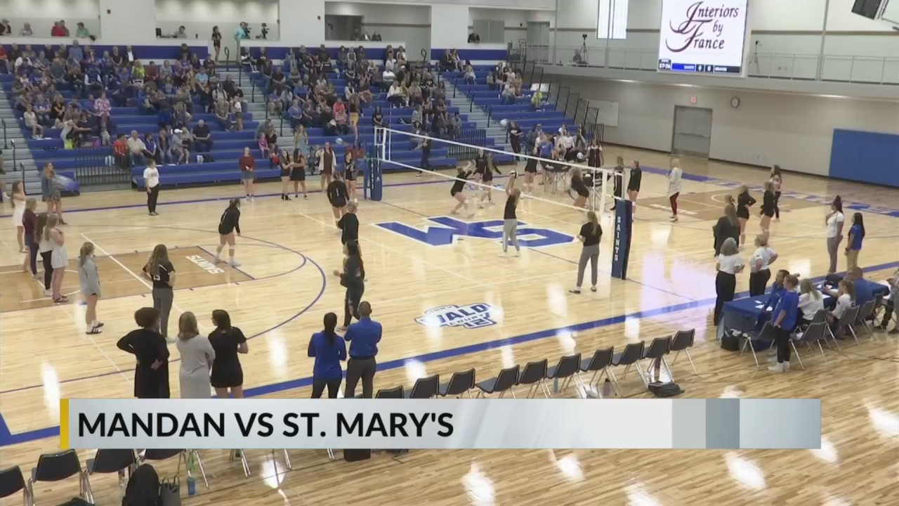 HS Volleyball: Mandan wins five-setter against St  Mary's