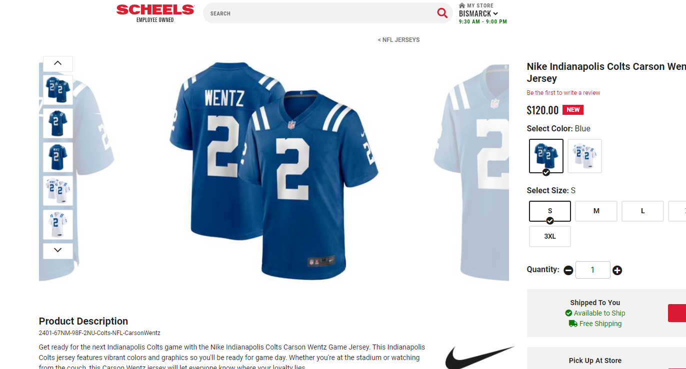 Carson Wentz Colts jerseys are in | KX NEWS