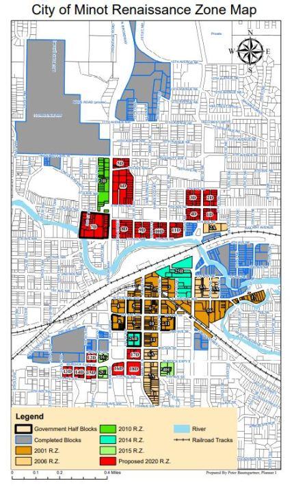 City of Minot Renaissance Zone Map